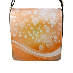 Wonderful Christmas Design With Sparkles And Christmas Balls Flap Messenger Bag (L)