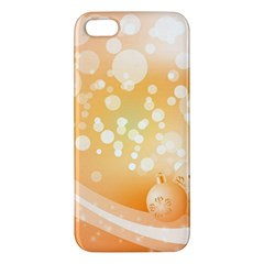 Wonderful Christmas Design With Sparkles And Christmas Balls iPhone 5S Premium Hardshell Case