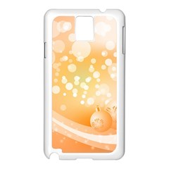Wonderful Christmas Design With Sparkles And Christmas Balls Samsung Galaxy Note 3 N9005 Case (White)