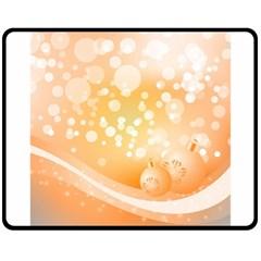 Wonderful Christmas Design With Sparkles And Christmas Balls Double Sided Fleece Blanket (Medium)