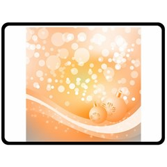 Wonderful Christmas Design With Sparkles And Christmas Balls Double Sided Fleece Blanket (Large)