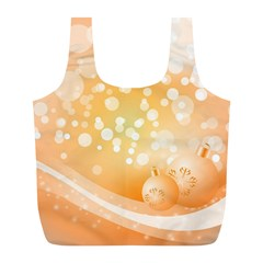Wonderful Christmas Design With Sparkles And Christmas Balls Full Print Recycle Bags (L)