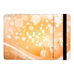 Wonderful Christmas Design With Sparkles And Christmas Balls Samsung Galaxy Tab Pro 10.1  Flip Case