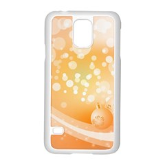 Wonderful Christmas Design With Sparkles And Christmas Balls Samsung Galaxy S5 Case (White)