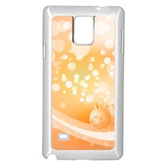 Wonderful Christmas Design With Sparkles And Christmas Balls Samsung Galaxy Note 4 Case (White)