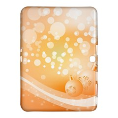 Wonderful Christmas Design With Sparkles And Christmas Balls Samsung Galaxy Tab 4 (10.1 ) Hardshell Case