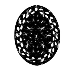 Spiders Seamless Pattern Illustration Ornament (oval Filigree)