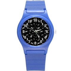 Spiders Seamless Pattern Illustration Round Plastic Sport Watch (S)
