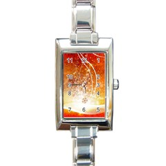 Wonderful Christmas Design With Snowflakes  Rectangle Italian Charm Watches