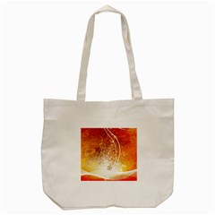 Wonderful Christmas Design With Snowflakes  Tote Bag (Cream)