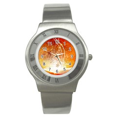 Wonderful Christmas Design With Snowflakes  Stainless Steel Watches