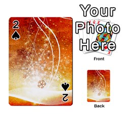 Wonderful Christmas Design With Snowflakes  Playing Cards 54 Designs