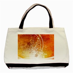 Wonderful Christmas Design With Snowflakes  Basic Tote Bag (Two Sides)