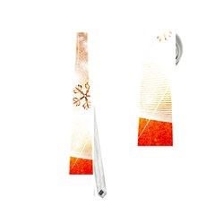 Wonderful Christmas Design With Snowflakes  Neckties (One Side)