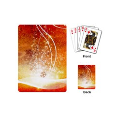 Wonderful Christmas Design With Snowflakes  Playing Cards (Mini)
