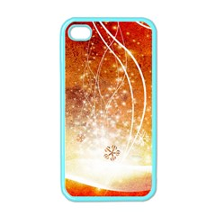 Wonderful Christmas Design With Snowflakes  Apple iPhone 4 Case (Color)