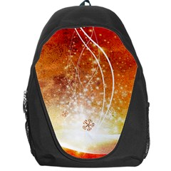 Wonderful Christmas Design With Snowflakes  Backpack Bag