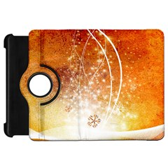 Wonderful Christmas Design With Snowflakes  Kindle Fire HD Flip 360 Case