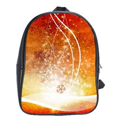Wonderful Christmas Design With Snowflakes  School Bags (XL)