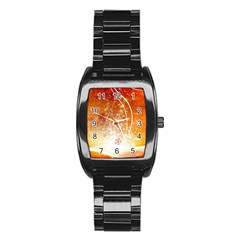 Wonderful Christmas Design With Snowflakes  Stainless Steel Barrel Watch