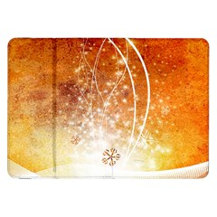 Wonderful Christmas Design With Snowflakes  Samsung Galaxy Tab 8.9  P7300 Flip Case