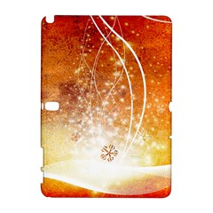 Wonderful Christmas Design With Snowflakes  Samsung Galaxy Note 10.1 (P600) Hardshell Case