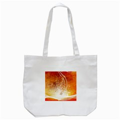 Wonderful Christmas Design With Snowflakes  Tote Bag (White)