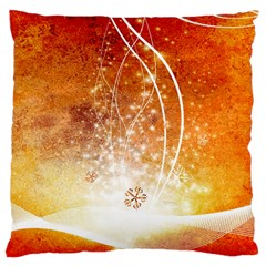 Wonderful Christmas Design With Snowflakes  Large Flano Cushion Cases (Two Sides)