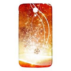 Wonderful Christmas Design With Snowflakes  Samsung Galaxy Mega I9200 Hardshell Back Case