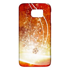 Wonderful Christmas Design With Snowflakes  Galaxy S6