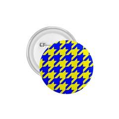 Houndstooth 2 Blue 1.75  Buttons