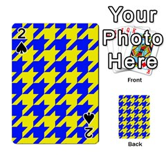 Houndstooth 2 Blue Playing Cards 54 Designs