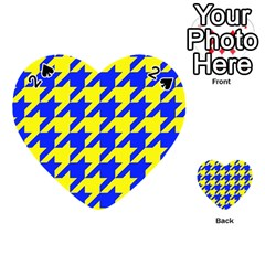 Houndstooth 2 Blue Playing Cards 54 (Heart)