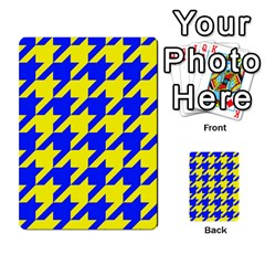 Houndstooth 2 Blue Multi Purpose Cards (rectangle)