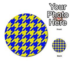 Houndstooth 2 Blue Multi-purpose Cards (Round)