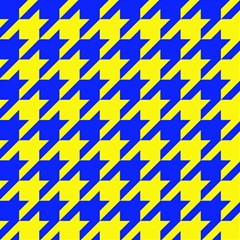 Houndstooth 2 Blue Magic Photo Cubes