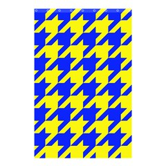 Houndstooth 2 Blue Shower Curtain 48  X 72  (small)