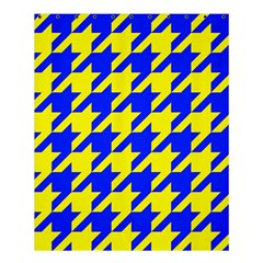Houndstooth 2 Blue Shower Curtain 60  X 72  (medium)