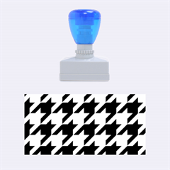 Houndstooth 2 Blue Rubber Stamps (Medium)