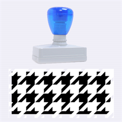 Houndstooth 2 Blue Rubber Stamps (large)