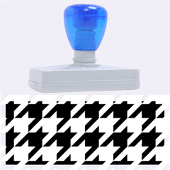 Houndstooth 2 Blue Rubber Address Stamps (XL)