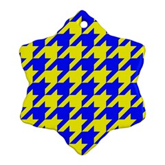 Houndstooth 2 Blue Ornament (Snowflake)