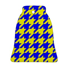 Houndstooth 2 Blue Ornament (Bell)