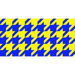 Houndstooth 2 Blue You Are Invited 3d Greeting Card (8x4)