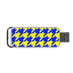 Houndstooth 2 Blue Portable Usb Flash (one Side)