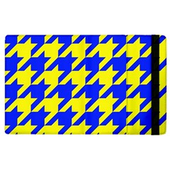 Houndstooth 2 Blue Apple iPad 2 Flip Case