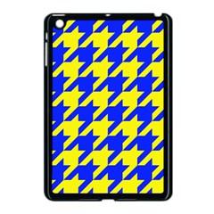 Houndstooth 2 Blue Apple iPad Mini Case (Black)