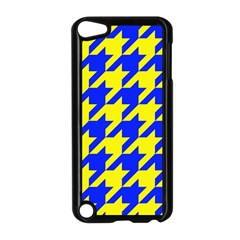 Houndstooth 2 Blue Apple iPod Touch 5 Case (Black)