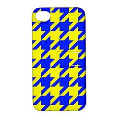 Houndstooth 2 Blue Apple iPhone 4/4S Hardshell Case with Stand