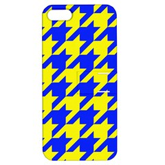 Houndstooth 2 Blue Apple iPhone 5 Hardshell Case with Stand